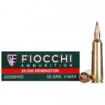 Fiocchi-Extrema-22-250-Remington-Ammo-55-Grain-Hornady-V-Max