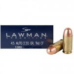 Speer-Lawman-Cleanfire-45-ACP-Auto-Ammo-230-Grain-Total-Metal-Jacket